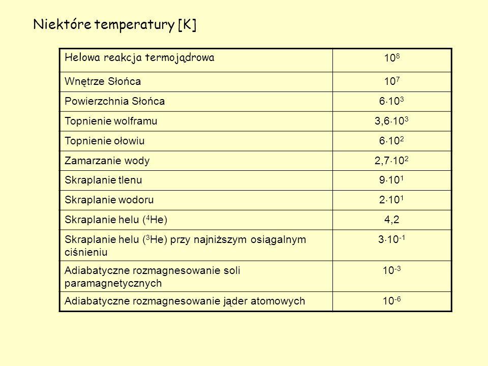 Niektóre temperatury [K]